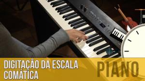 Escala Cromática: Digitação (aula de piano)