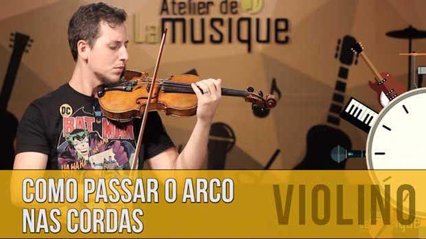 Como Passar o Arco do Violino nas Cordas
