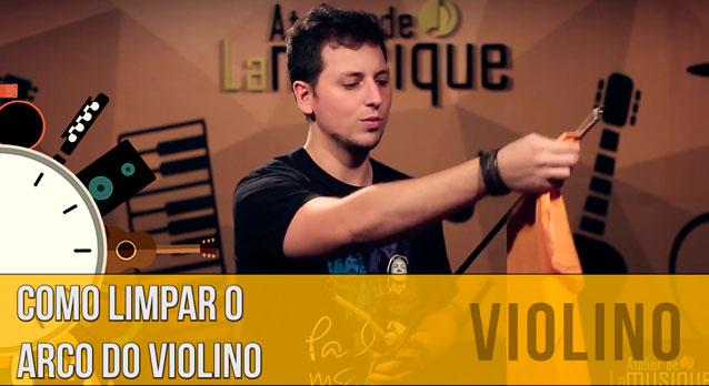 Arco do Violino: Como Limpar