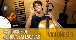 Exercício de métrica em escala no violoncelo