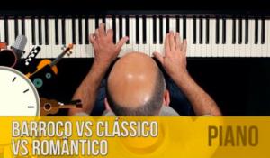 Piano Erudito: períodos barroco, clássico e romântico